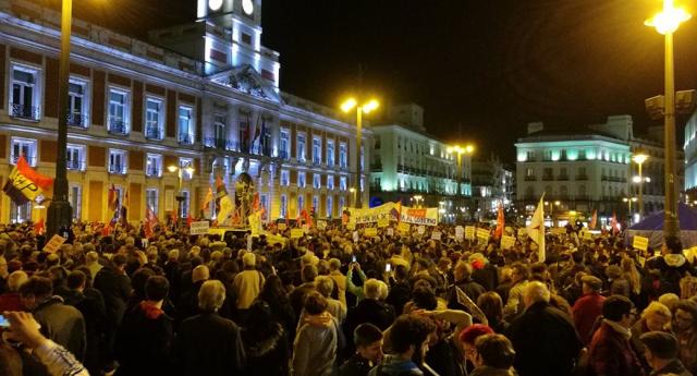 Marchas en varias ciudades españolas contra medidas neoliberales