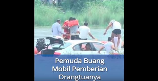 Minta Jaguar Tapi Diberikan BMW, Pria Ini Buang Mobil Hadiah Ulang Tahunnya Ke Sungai