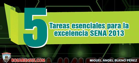 5 tareas esenciales para la excelencia SENA 2013 | Rosarienses, Villa del Rosario