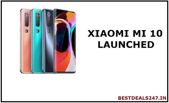 Xiaomi Mi 10 Smartphone Launched | Price, Specs