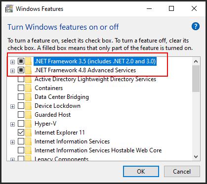 لتفعيل ال NET Framework فى ويندوز 10