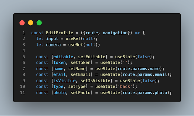 cara menggunakan useState cara mendefinisikan variable dalam useState