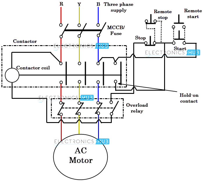 dol starter wiring diagram for single phase motor dol electrical my hobby 2016 on dol starter wiring diagram for single phase motor