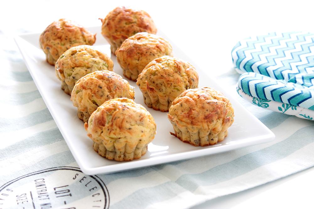 proste wytrawne muffiny cukinia