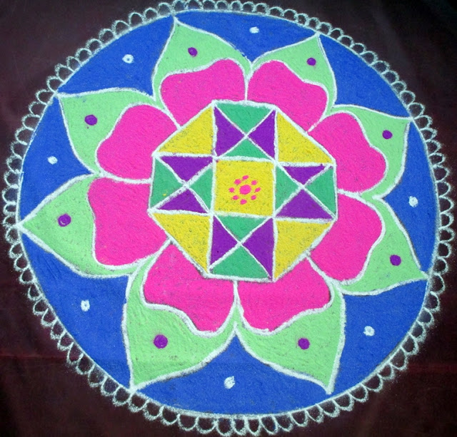 Friday kolam rangoli