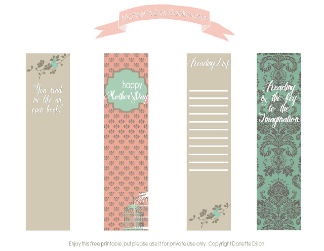 photo about Mother's Day Bookmarks Printable Free named Moms Working day Printable -