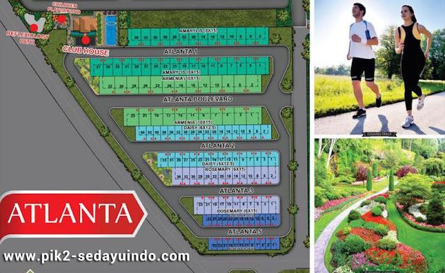 Siteplan Rumah PIK2 Cluster Atlanta