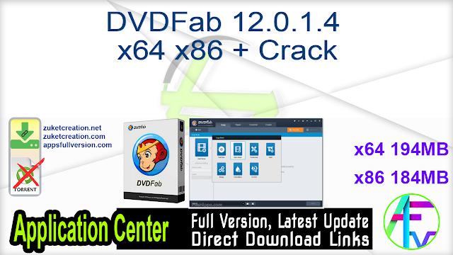 DVDFab 12.0.1.4 x64 x86 + Crack
