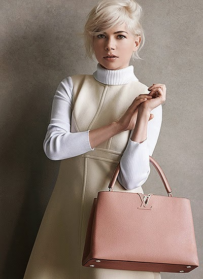Michelle Williams The first pictures  Advertising fashion Louis Vuitton