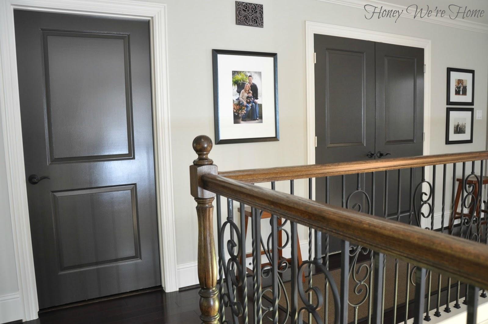Terrific Painted Dark Grey Doors Honey Were Home Home Interior And Landscaping Mentranervesignezvosmurscom