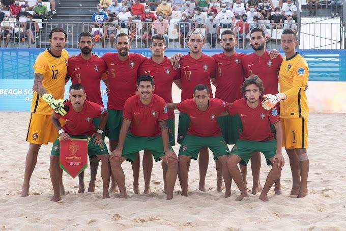 Futebol de Praia: Portugal defronta hoje Bielorrússia na final da Superliga Europeia que se decorre em Buarcos