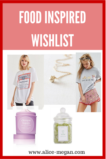 5 food inspired items on a wishlist