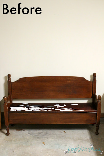 Revolutionaries: Before and After: The Shabby Chic Bench