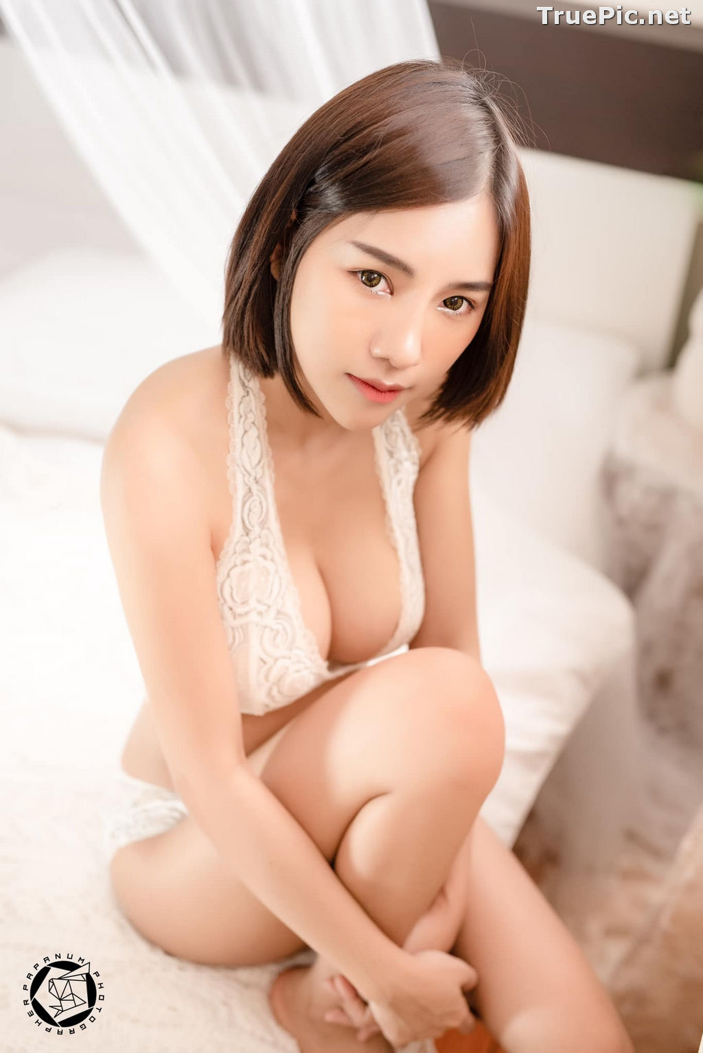 Image Thailand Model - Papoy Kuanpradit - Sexy White Lingerie - TruePic.net - Picture-12