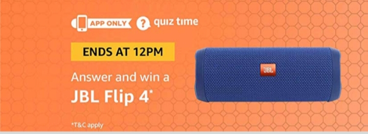Amazon answer win JBL Flip 4 (24/11/18)