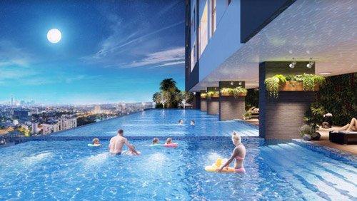 Bể bơi tại The Golden Palm