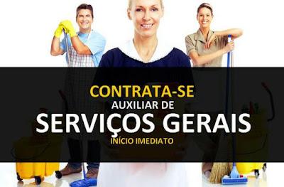 Vagas de Auxiliar de Serviços Gerais - Envie seu cv