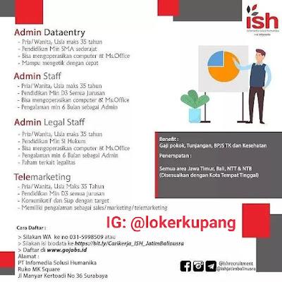 Lowongan Kerja Infomedia Solusi Humanika Sebagai Admin Dataentry, Admin Staff, Admin Staff Legal, Telemarketing