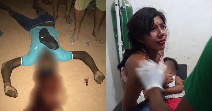 Marido morre e mulher e filha ficam feridas em acidente gravíssimo envolvendo duas motos no Distrito de Moraes Almeida