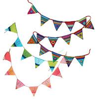 Haakpatroon om zelf een kleurrijke vlaggenlijn of een vlaggenlijn met naam te haken