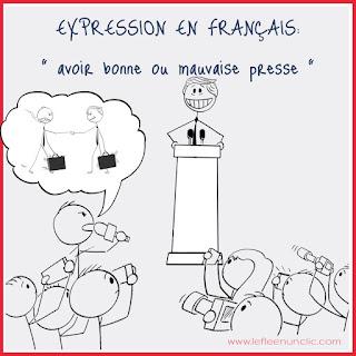 avoir bonne presse, avoir mauvaise presse, expression, expression française, FLE