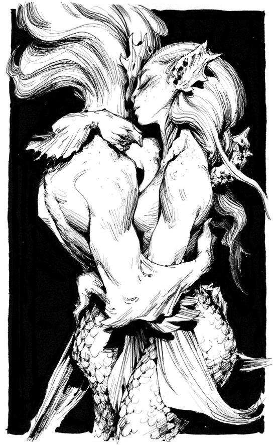 Andrew Mar artstation arte ilustrações fantasia sketches sensuais