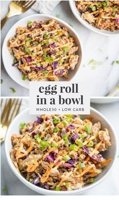 Whole30 Egg Roll in a Bowl (Paleo)