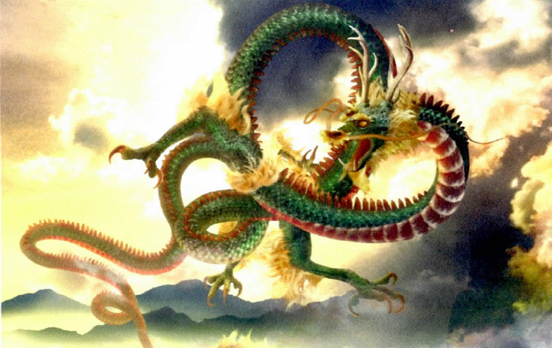 You tell chinese dragon art