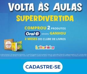 Cadastrar Promoção Oral-B Volta às Aulas 2021 Ganhe 2 Meses Leiturinha Grátis - Superdivertida