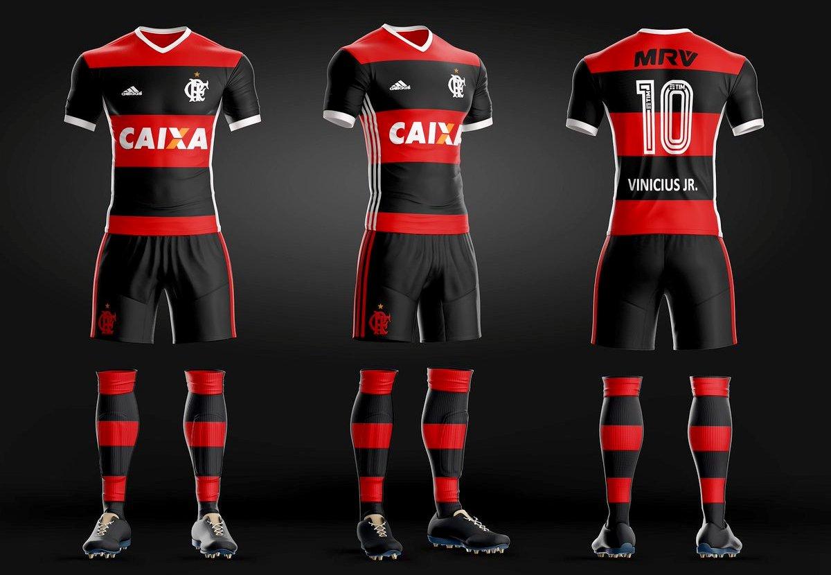 f59b37942b546 Uniforme do Flamengo criado por torcedor - Foto   Btomengo