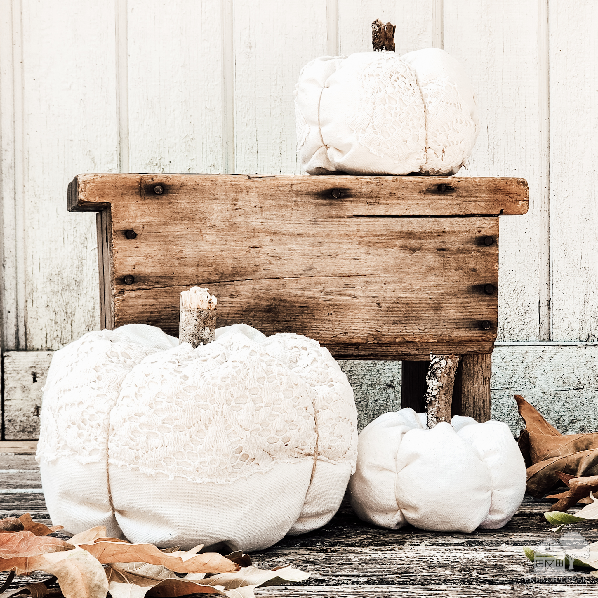 Farmhouse fabric pumpkins