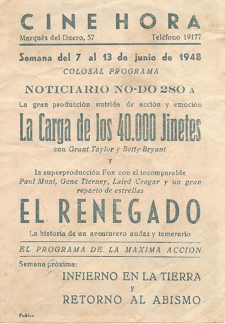 Programa de Cine - El Renegado - Gene Tierney - Paul Muni