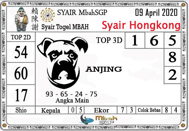 Prediksi Togel Hongkong Kamis 09 April 2020 - Syair Mbah HK