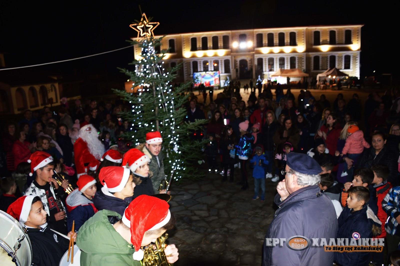Ο  Στολισμός του Χριστουγεννιάτικου Δέντρου  στο Δημοτικό Σχολείο της Αρναίας (Φώτο βίντεο)