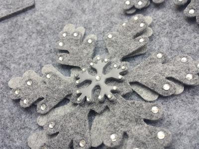 fiocco di neve feltro big shot e pasta polimerica