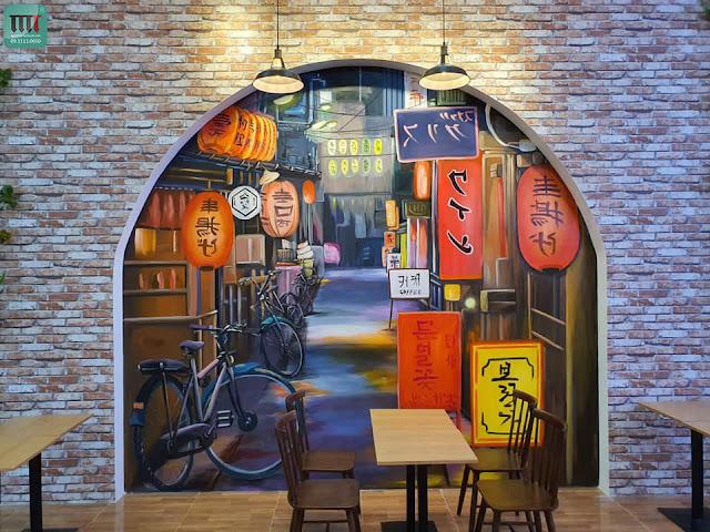 Những mẫu tranh tường đẹp tranh trí quán cafe
