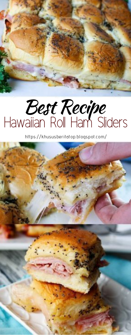 Hawaiian Roll Ham Sliders #dinnerrecipe #food #amazingrecipe