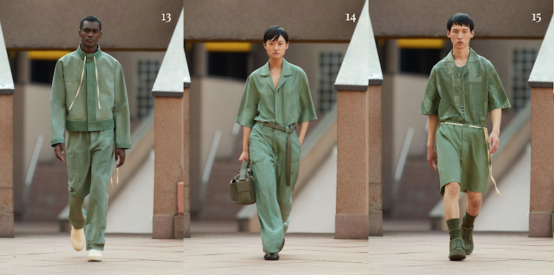 ERMENEGILDO ZEGNA   Beautiful minimalistic pieces with oversize pockets and monochrome looks in pastel and earthy color palettes. Staple pieces for every occasion, definitely a must-see collection from Milan Spring/Summer.