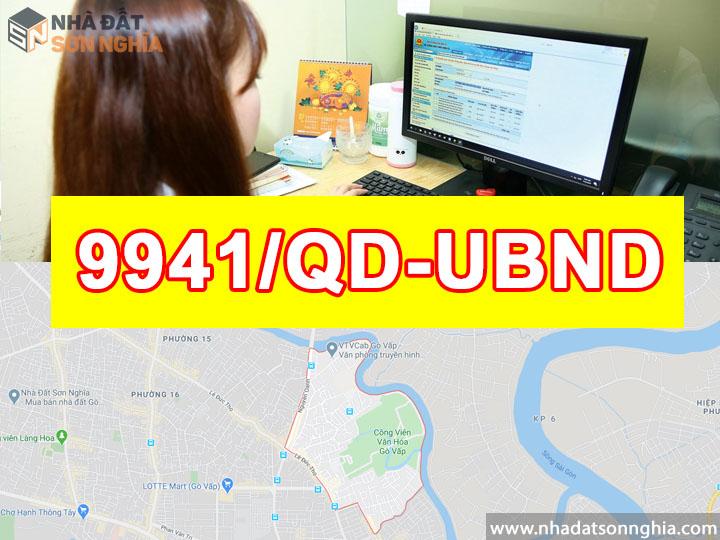 Quyết định số 9941/QĐ-UBND