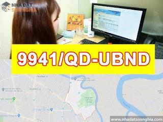 Quyết định số 9941/QĐ-UBND đề án lộ giới đường hẻm tỉ lệ 1/500 phường 6 quận Gò Vấp