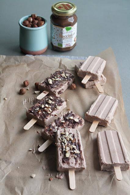 Gelati su stecco cocco e nocciolata crunchy