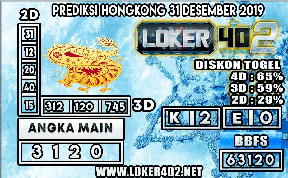 PREDIKSI TOGEL HONGKONG LOKER4D2 31 DESEMBER 2019