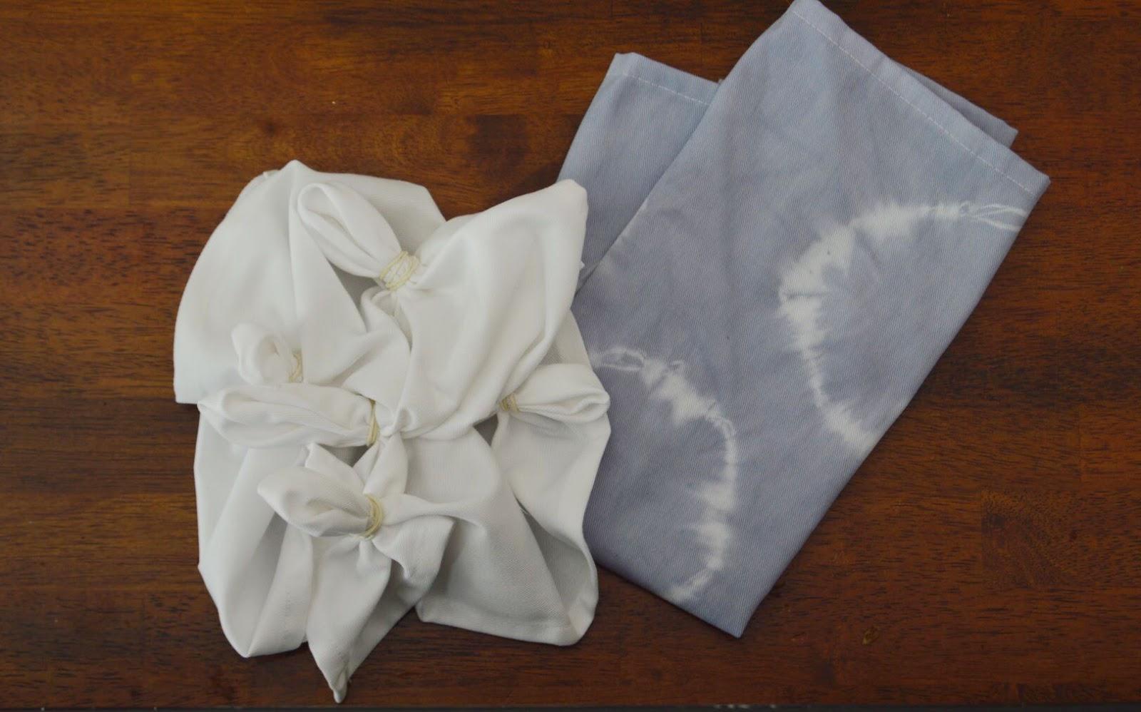 How to create shibori circle print napkins using rit dye
