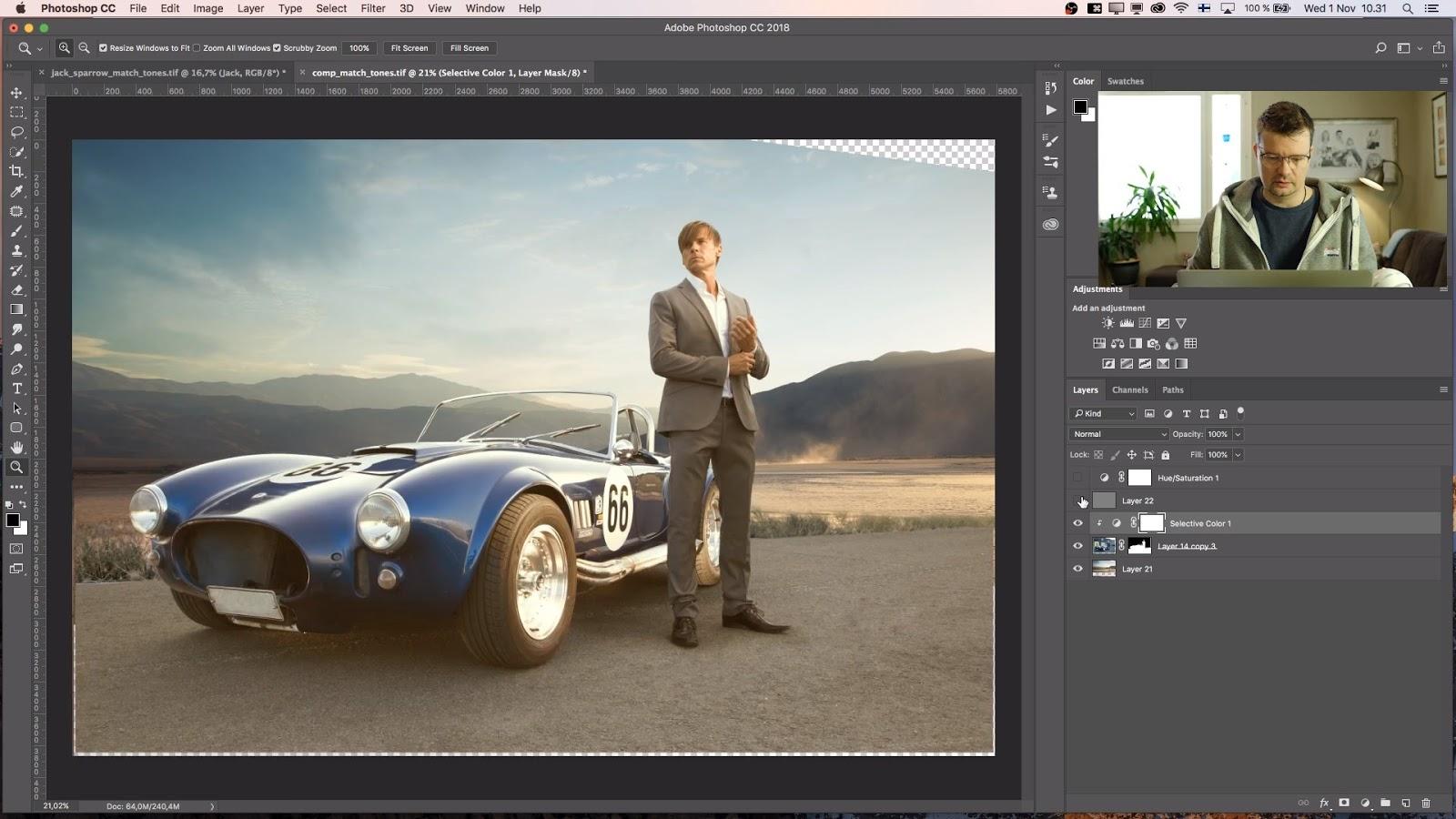 Best composite image technique to match tones