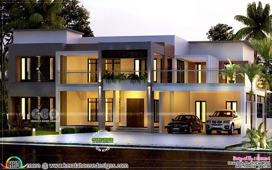 2100 sq.ft contemporary style residence