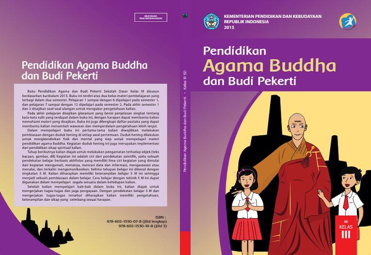 Download Gratis Buku Guru dan Buku Siswa Pendidikan Agama Budha dan Budi Pekerti SD Kelas 3 Kurikulum 2013 Format PDF