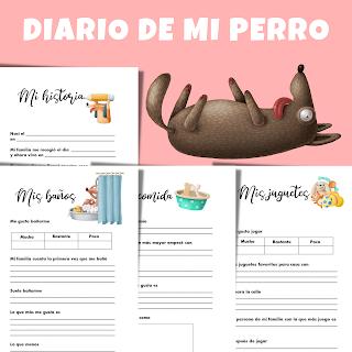 diario, perro, mascotas, imprimible, pdf, dog, perros, diarios, historia