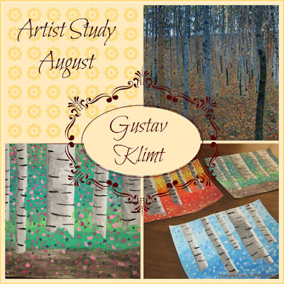 Artist Study - Gustav Klimt on the Virtual Refrigerator, an art link-up hosted by Homeschool Coffee Break @ kympossibleblog.blogspot.com #virtualfridge