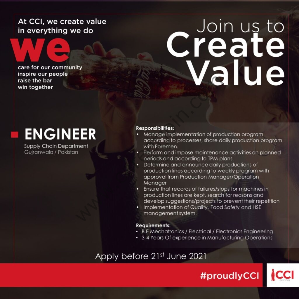 CocaCola Icecek Pakistan Jobs 2021 in Pakistan