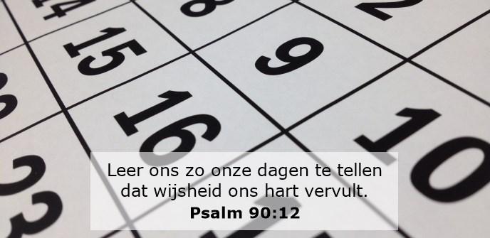 Leer ons zo onze dagen te tellen dat wijsheid ons hart vervult.